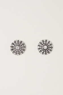 Round sparkly earrings
