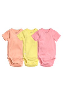 3-pack wrapover bodysuits