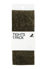 H&M+ Glittery tights - Black/Glittery - Ladies | H&M CN 1