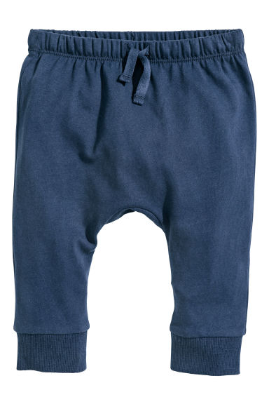 Tricot broek - Donkerblauw -  | H&M BE