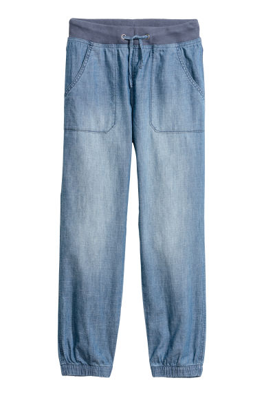 Pull-on trousers - Blue/Chambray -  | H&M
