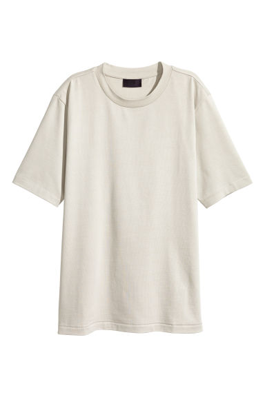 Cotton T-shirt - Light beige - Men | H&M CN 1