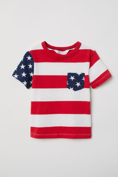 Slub jersey T-shirt - Red - Kids | H&M CN
