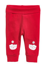 Set 3 pezzi in jersey - Rosso/pupazzo di neve - BAMBINO | H&M IT 3