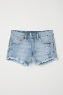 Short denim shorts