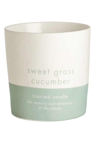 Candela profumata in vasetto - Verde/Sweet Grass Cucumber - HOME | H&M IT