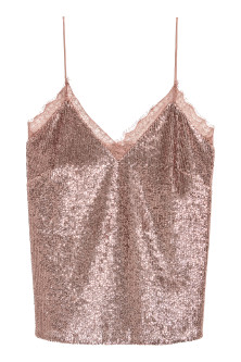 Sequined strappy top