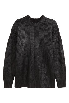 Ribbed coated jumper