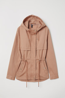 Short cotton parka
