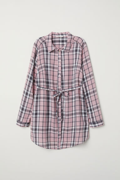 MAMA Tunic - Pink/Checked - Ladies | H&M GB