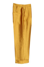 Wide suit trousers - Gold-coloured - Ladies | H&M IE 3