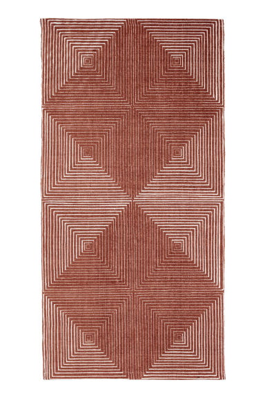 Patterned cotton rug - Light brown/White patterned -  | H&M CN