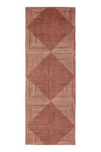 Patterned cotton rug - Light brown/White patterned - Home All | H&M CN 1