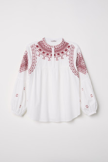 H&M+ Blouse with Embroidery