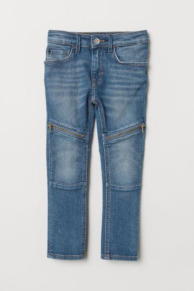 Skinny Fit Biker Jeans - Denim blue - Kids | H&M GB