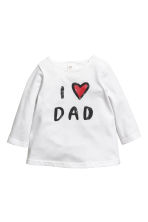 Driedelige tricot set - Wit/I love dad - KINDEREN | H&M NL 2
