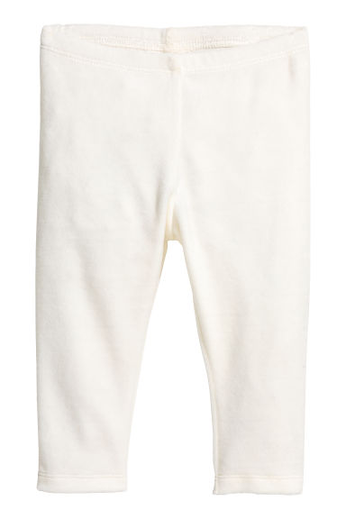 Velour leggings - White -  | H&M CN