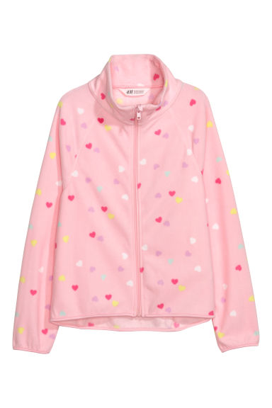 Veste en polaire - Rose/cœurs -  | H&M BE