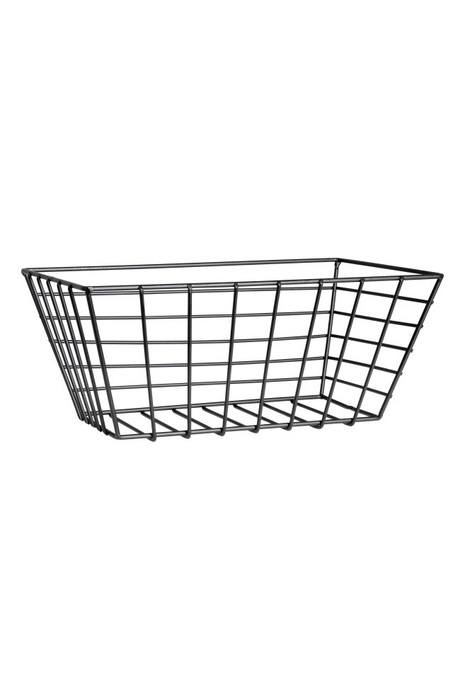 Small metal wire basket - Black - Home All | H&M CA