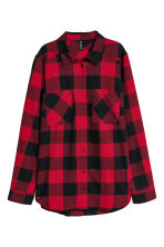 Checked shirt - Red/Checked - Ladies | H&M CN 2
