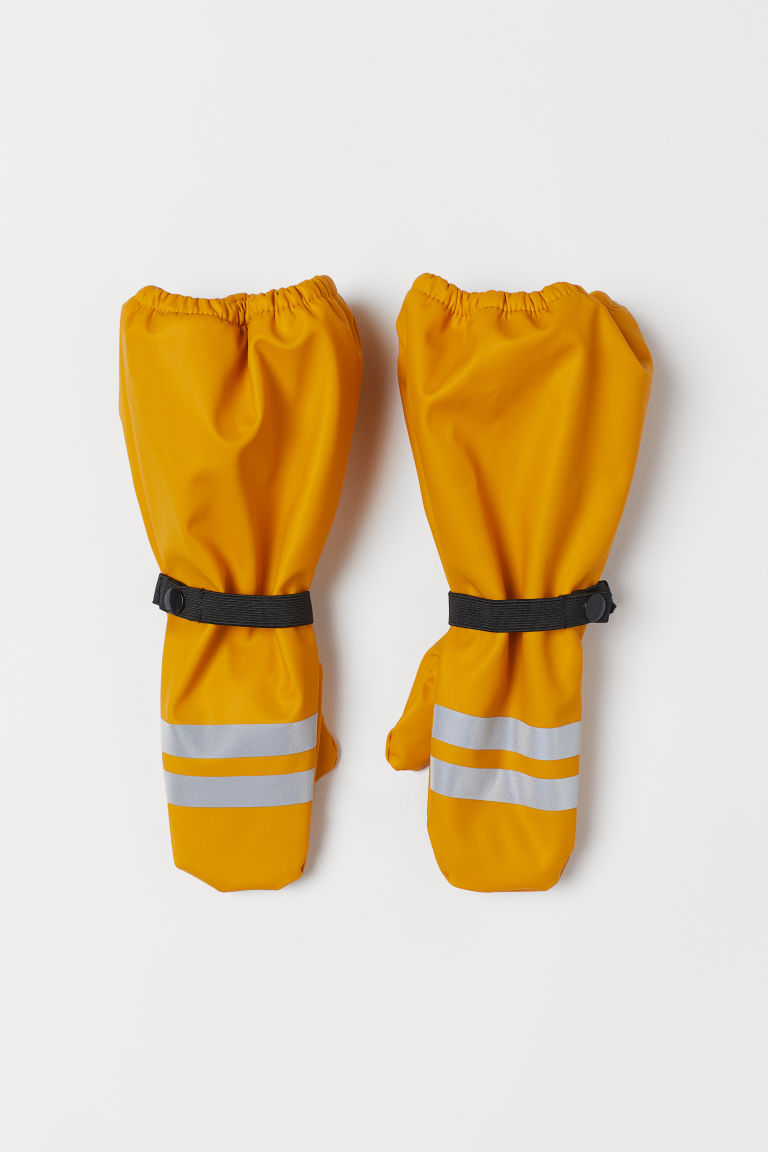 Waterproof mittens - Mustard yellow - Kids | H&M GB