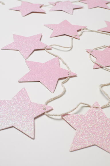 Glittery star garland - Pink - Home All | H&M CN
