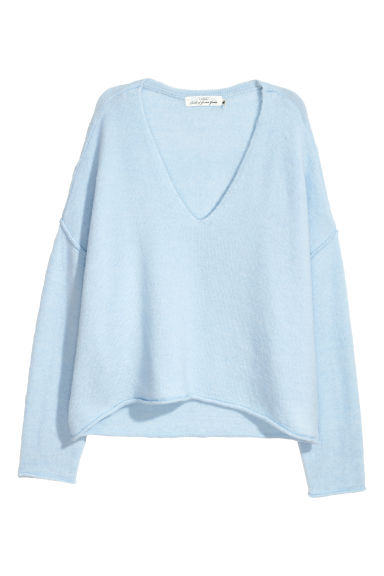 Knitted jumper - Light blue - Ladies | H&M CN