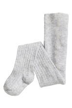2-pack tights - Light grey/Hearts - Kids | H&M CN 3