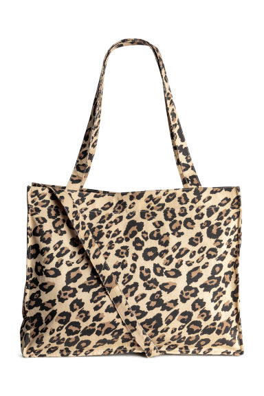 Cotton canvas changing bag - Beige/Leopard print - Kids | H&M