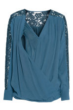 MAMA Blouse d'allaitement - Turquoise - FEMME | H&M BE 3