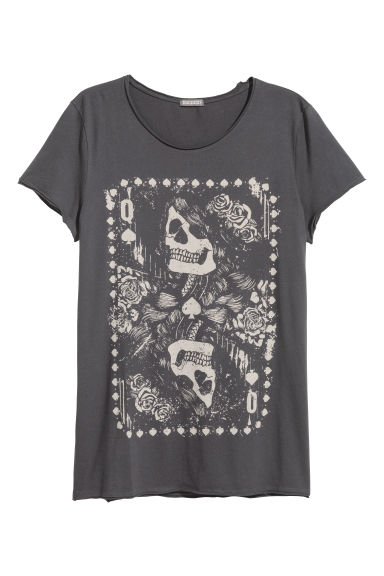 T-shirt with a print - Anthracite grey - Men | H&M