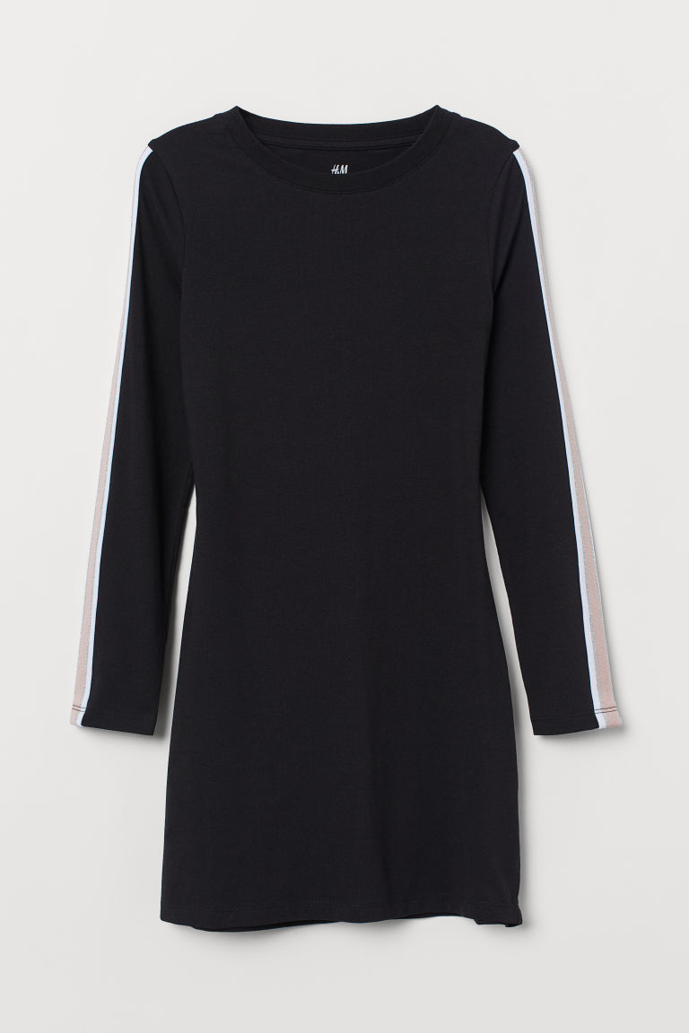 Long-sleeved Jersey Dress