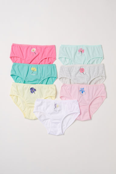 7-pack briefs - White/Flowers - Kids | H&M CN