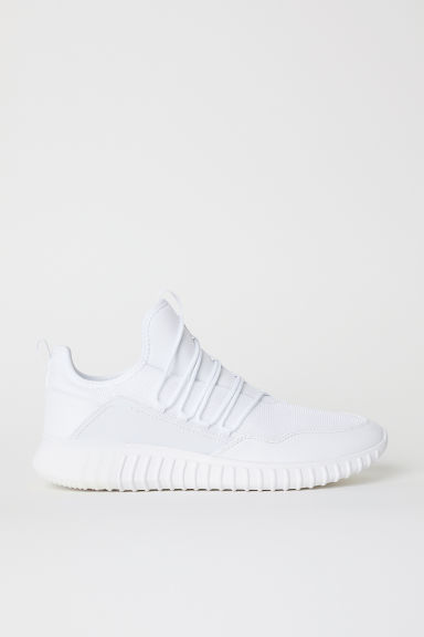 Mesh trainers - White - Men | H&M