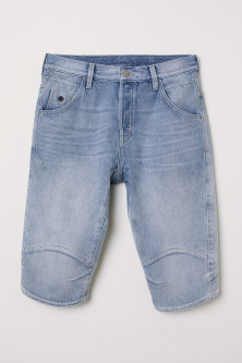 Straight Denim Shorts