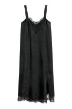 Dress with lace - Black - Ladies | H&M IE 2