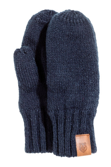 Fleece-lined Mittens - Dark blue -  | H&M CA