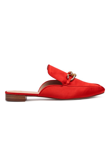Slip-on loafers - Bright red - Ladies | H&M