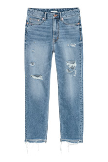 Straight Ankle High Jeans