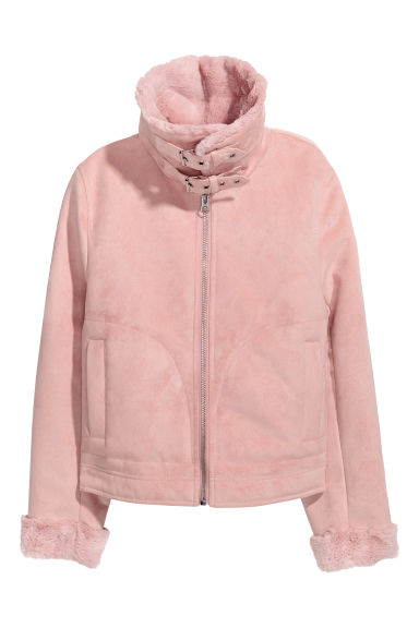 Jacket with faux fur lining - Light pink - Ladies | H&M GB