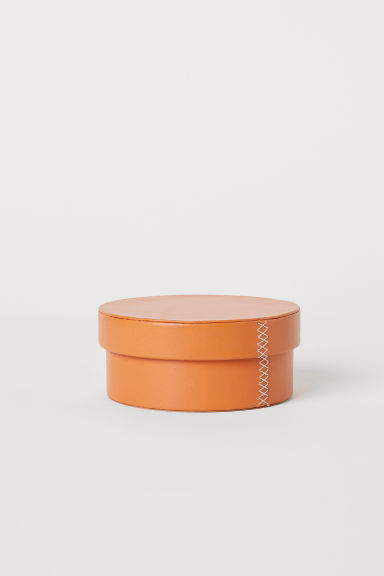 Leather pot - Cognac brown - Home All | H&M CN