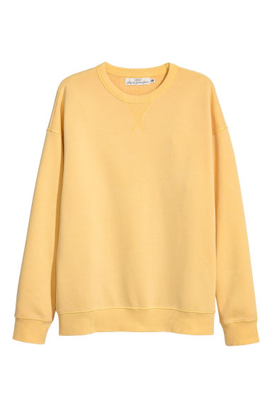 Sweatshirt - Light yellow - Men | H&M GB