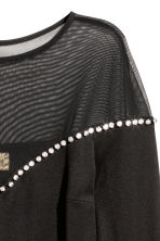 Body with sparkly stones - Black - Ladies | H&M CN 3