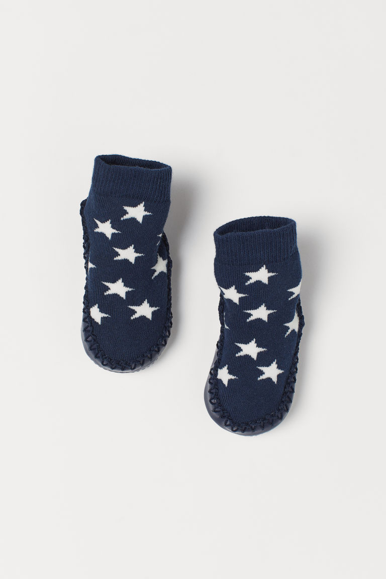 Moccasins - Dark blue/Stars - Kids | H&M GB