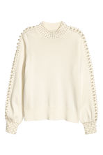 Beaded jumper - Natural white - Ladies | H&M 2