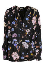 MAMA Nursing blouse - Black/Floral - Ladies | H&M GB 3
