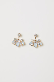 Sparkly-stone earrings
