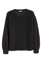 H&M+ Ribbed jumper - Black - Ladies | H&M CN 2