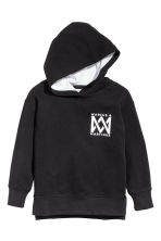 Printed hooded top - Black/Marcus & Martinus - Kids | H&M CN 4