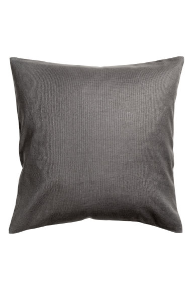 Cotton canvas cushion cover - Dark grey -  | H&M IE